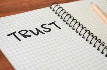 "Writing Motivational Text ""Trust"""