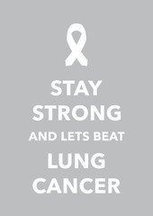 lung cancer poster