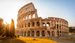 Leinwanddruck Bild - Colosseum at sunrise, Rome
