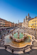 Neptune fountain from above in Navona square, Rome, Italy - 76485650