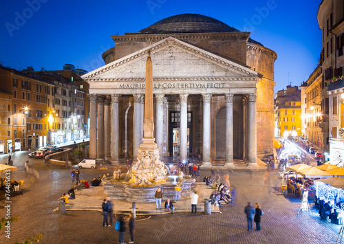 Fotobehang Rome Pantheon sight at evening, Rome