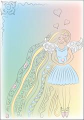 In love angel girl