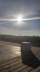 Winter sun shining on the beach