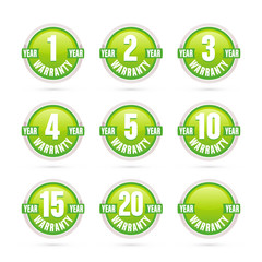 green warranty labels collection