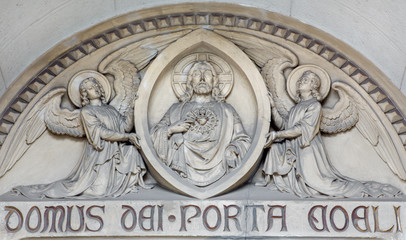 Vienna - The relief of Heart of Jesus Christ