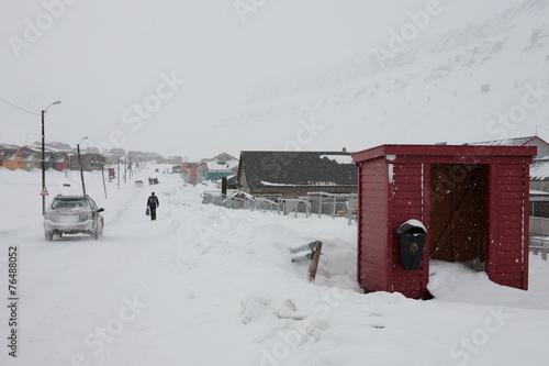 Straße in Longyearbyen