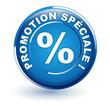 promotion spéciale sur bouton bleu
