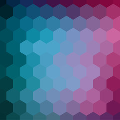 Vector hexagon background. Colorful geometric background