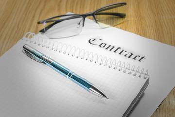Contract glasses pen