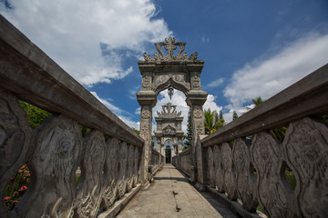 Architectural wonders at the Karangasem water temple in Bali, In