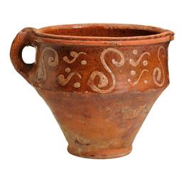 Old earthenware milk jug