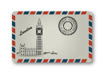 Letter from London with the Tower Elizabeth
