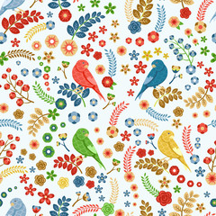 Patrón vector floral transparente