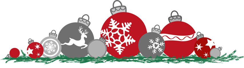 Weihnachtskugeln auf Boden liegend, Vektor