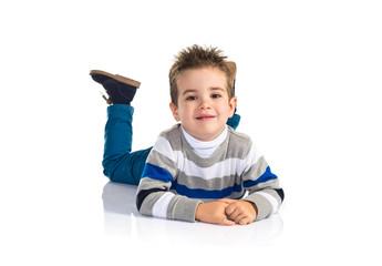 Kid on the floor