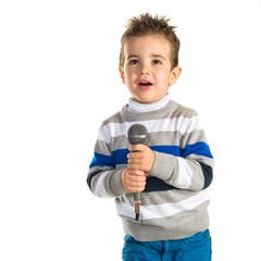 Kid singing