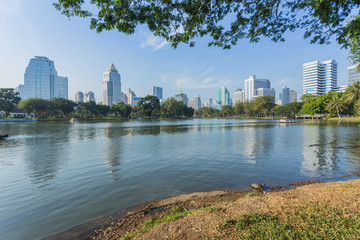 Bangkok Cityscape from Lumpini Park
