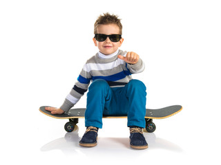 Kid with skate