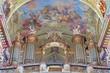 Slovakia - organ and fresco from cloister church in Jasov