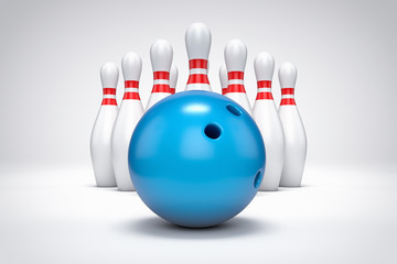 3D bowling background