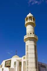 Mosque with beautiful blue sky