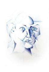 Kubistisches Gesicht