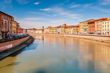 L'Arno à Pise, Toscane, Italie
