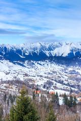 Mountain landscape in wintertime