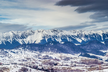 Mountain landscape in winter time