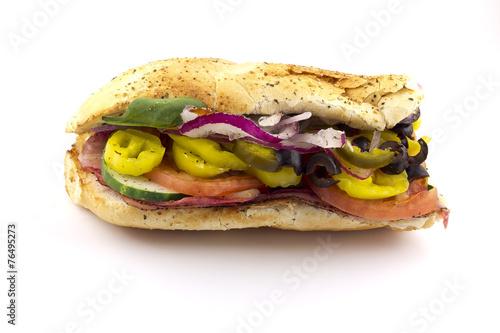 Fotobehang Picknick The Works Sandwich