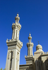 Mosque with clear blue sky