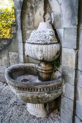 old fountain in Ksiaz is castle in Poland