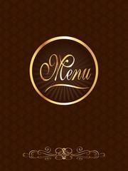 Brown & Gold Gourmet Menu Cover