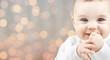 Leinwanddruck Bild - beautiful happy baby