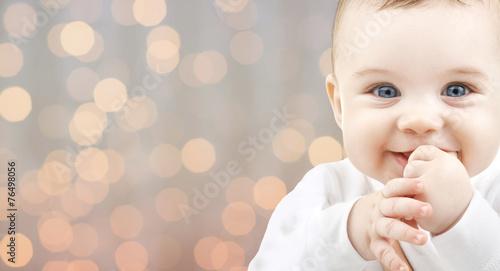 Leinwanddruck Bild beautiful happy baby