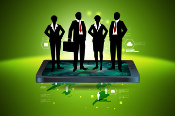 business people with briefcase