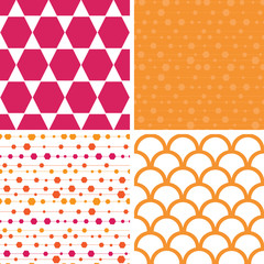 Vector abstract colorful stripes and shapes set of four marching