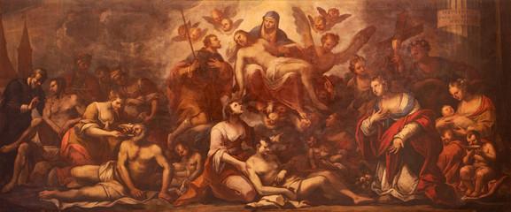 Padua - Pieta and the pest in Padua - paint