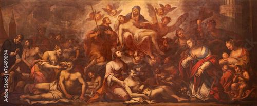 Fototapeta Padua - Pieta and the pest in Padua - paint