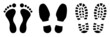 Fußabdruck Schuhabdruck Vektor - 76499616
