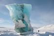 Leinwandbild Motiv Gletscher Spitzbergen