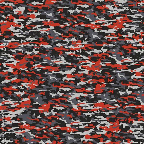 In de dag Kunstmatig Gray and red camouflage