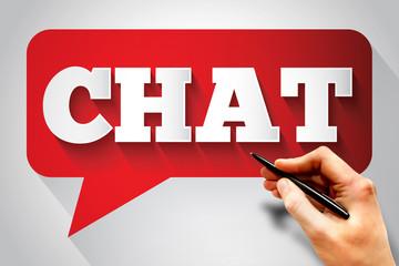 CHAT message bubble, business concept
