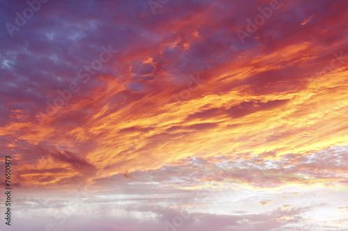 Fotobehang Zonsondergang Bright sky
