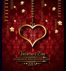 Valentines Day background for dinner invitations