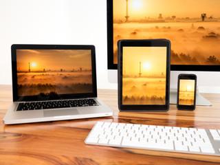 vernetzte Computer und Mobilgeräte