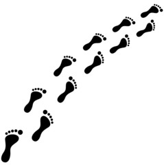 Fußabdrücke Vektor
