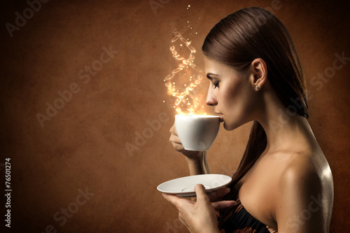 Foto op Canvas Koffie Coffee magic