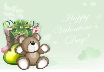 Green Valentines Day background