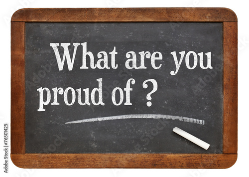 What are you proud of? Poster